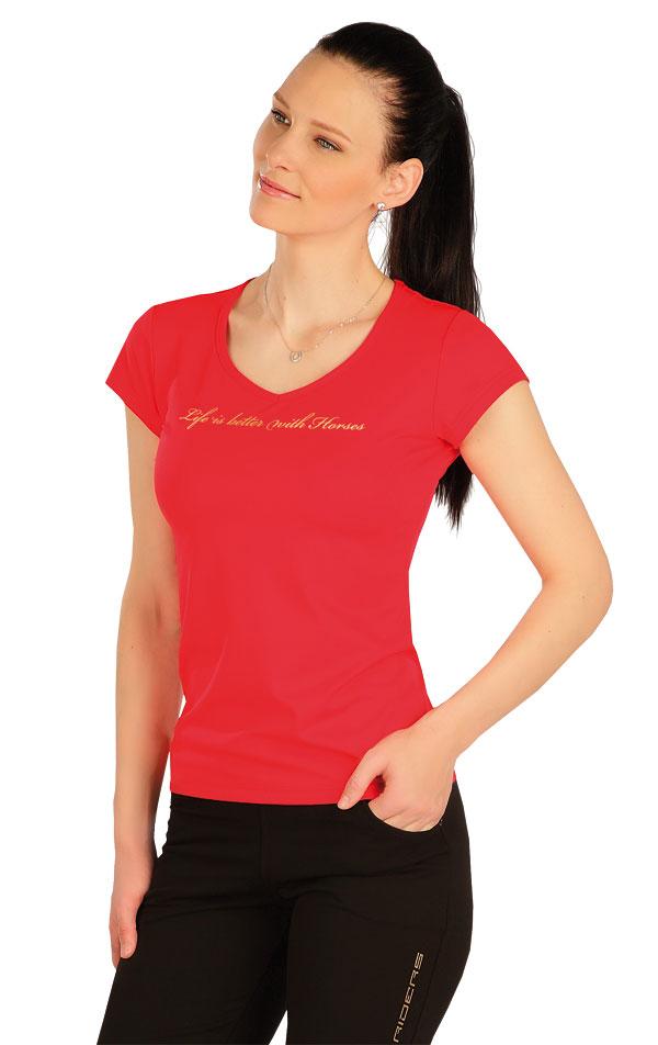 Tričko dámske s krátkym rukávom. J1254   Jazdecké tričká LITEX