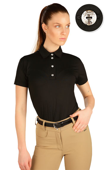 Polo tričko dámske s krátkym rukávom.